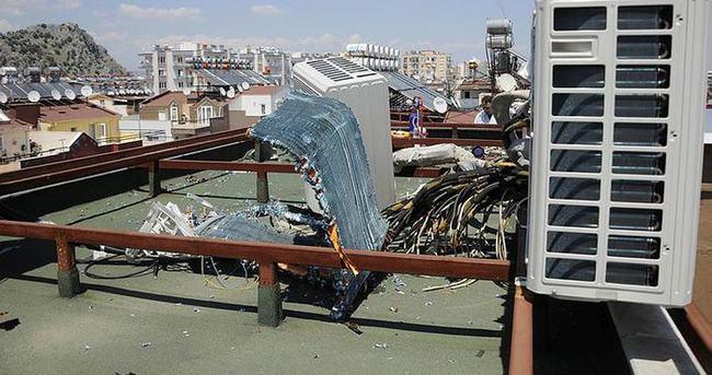 Klimanın kompresörü patladı: 1 yaralı