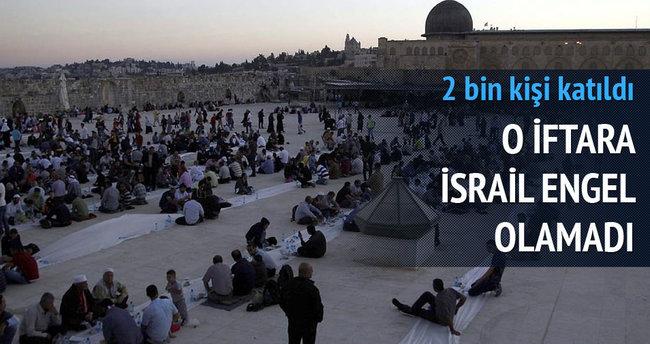 O iftara İsrail engel olamadı