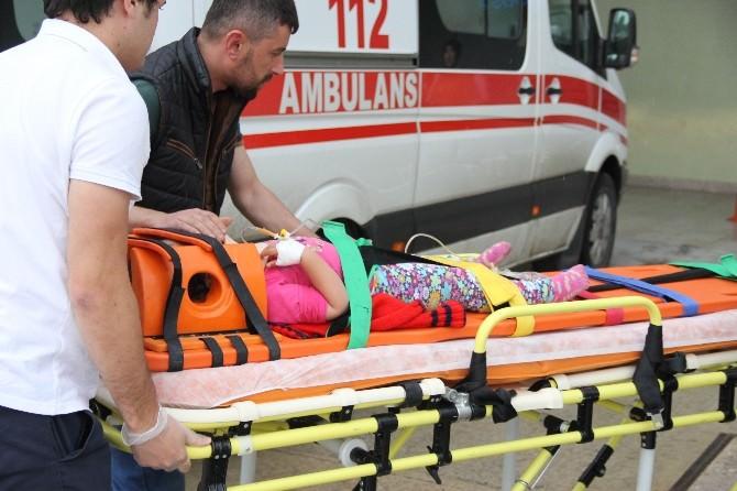 Pencereden Balkona Düşen Çocuk Yaralandı