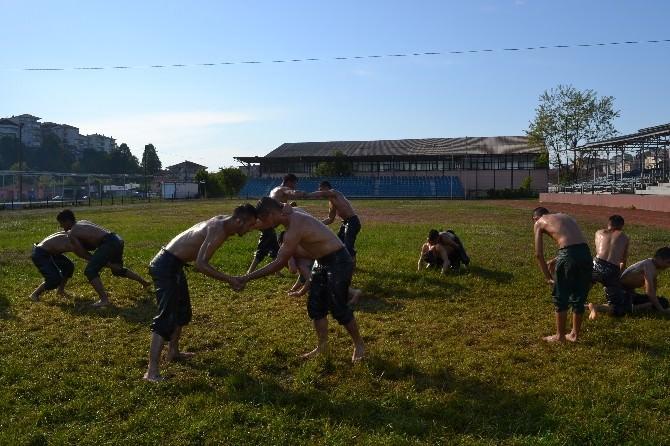 Alaplılı Güreşçiler Kırkpınar'a Hazırlanıyor
