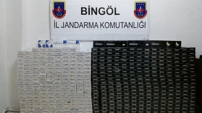 Bingöl'de 22 Bin Paket Kaçak Sigara Ele Geçirildi