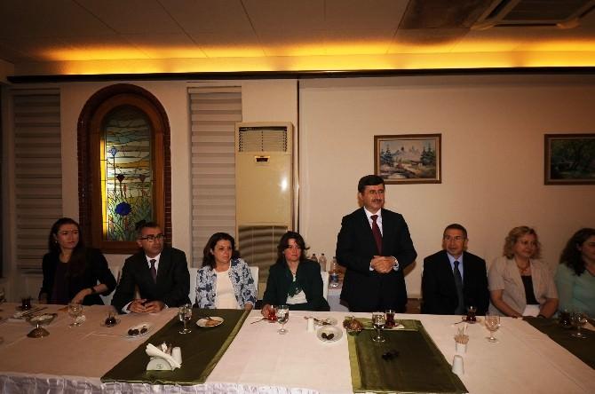 İl Jandarma Alay Komutanı Albay Turgay Aras'a Veda Yemeği
