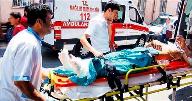 Tekstil işçisi dişlilerin arasına sıkışıp yaralandı