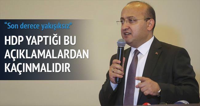 Akdoğan: Sorumsuz ve yakışıksız siyaset tarzı
