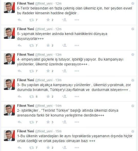 AK Parti Adana İl Başkanı Yeni'den Terörist Türkiye Kampanyasına Tepki