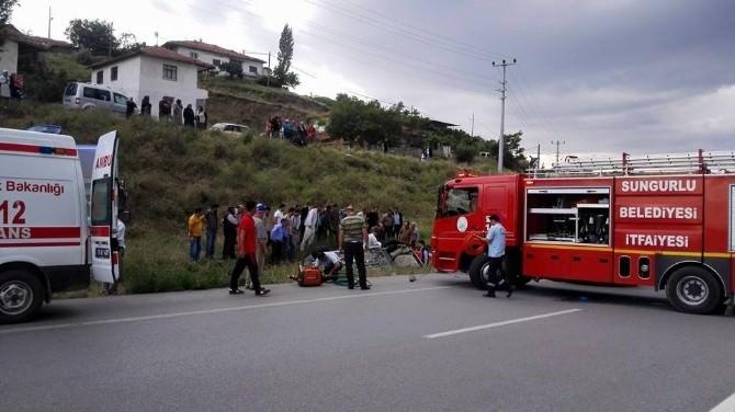 Sungurlu'da Trafik Kazası : 6 Yaralı