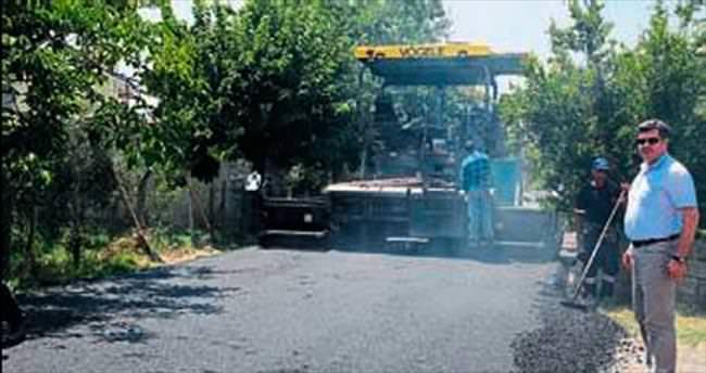 Akçay'ın dört bir yanı asfaltlandı