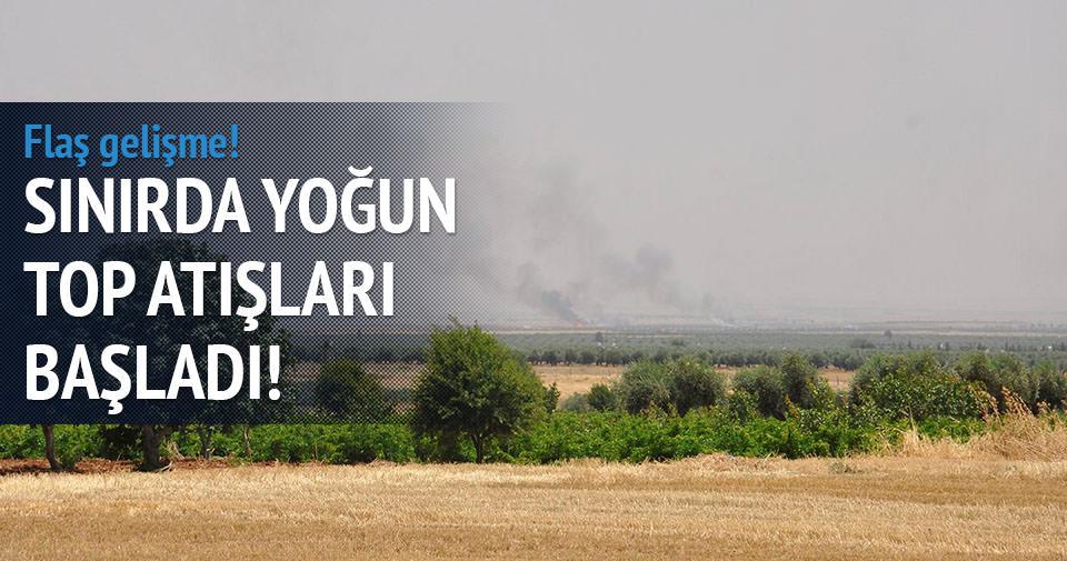 Suriye sınırında top atışları