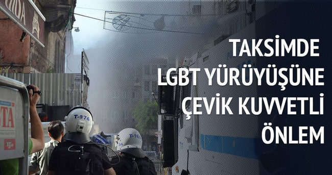 Taksim'de LGBT yürüyüşüne çevik kuvvetli önlem