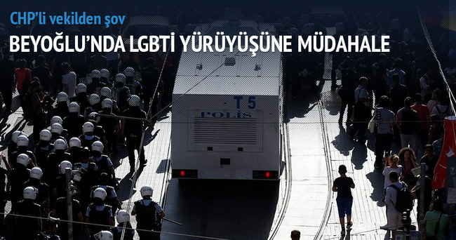 Beyoğlu'nda LGBTİ yürüyüşüne müdahale