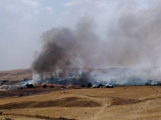 Silvan'da Yangın Çıktı
