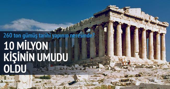 Partenon'da milyonlarca gümüş para depolanmış olabilir