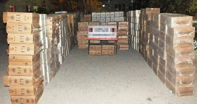 600 bin TL'lik kaçak sigara ele geçirildi