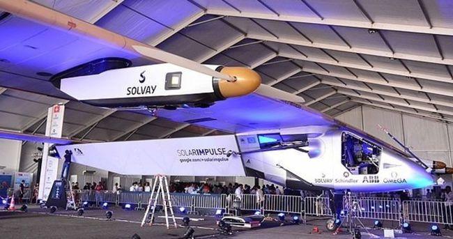 Güneş enerjili uçak yeniden dünya turuna başladı