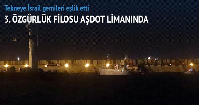 3. Özgürlük filosu Aşdot limanında