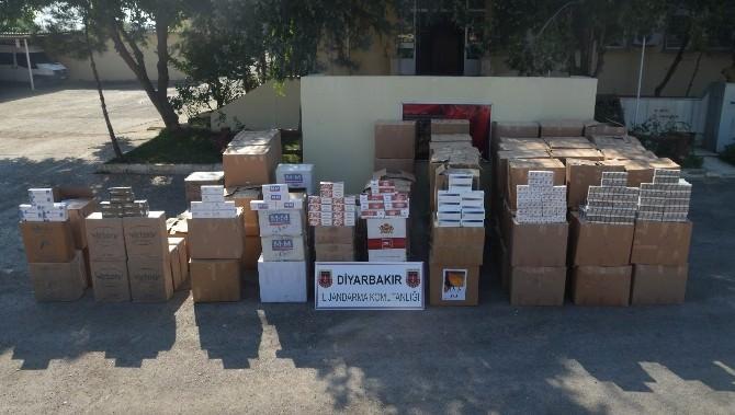 Diyarbakır'da 600 Bin Liralık Kaçak Sigara Ele Geçirildi
