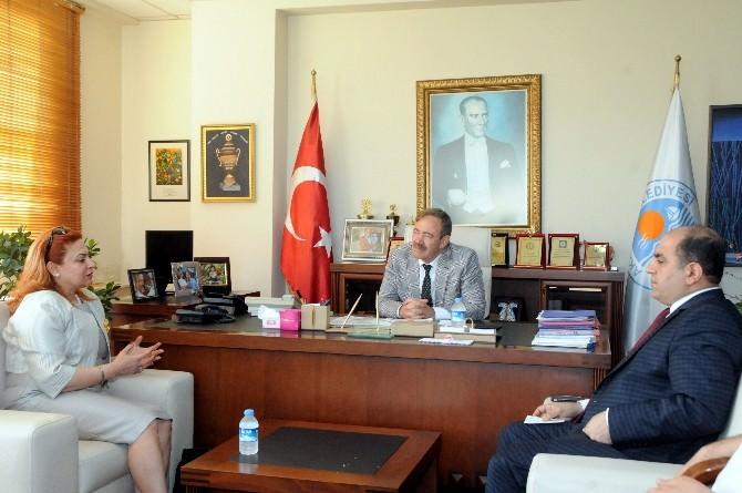 Irak Gaziantep Başkonsolosu Başkan Türk'ü Ziyaret Etti