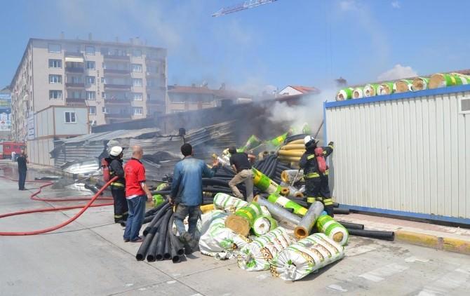 Belediye İnşaatında Yangın Çıktı
