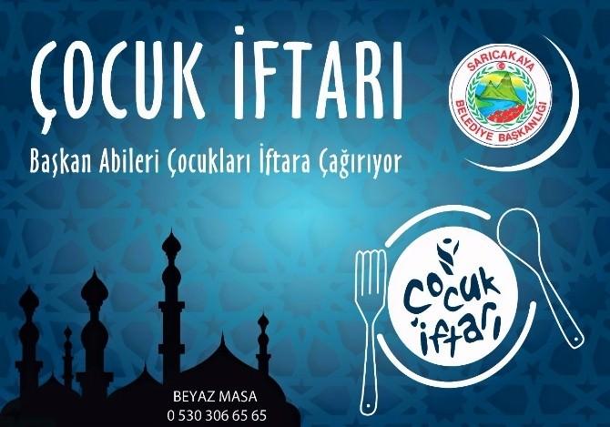 Sarıcakaya Belediyesi'nden Eskişehir'de Bir İlk ''Çocuk İftarı''