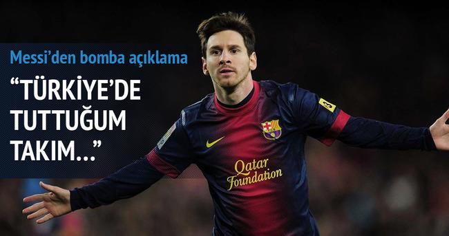 Messi: Türkiye'de tuttuğum takım...