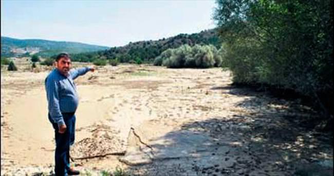 Balaban yine taştı tarlalar sular altında