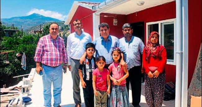 Antakya'da dört aile ev sahibi oldu