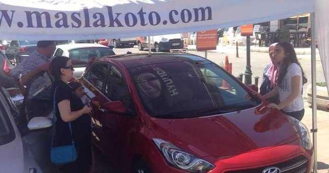 Maslak oto Hyundai i30 ve i20 modelleriyle İstinye Migros'daydı
