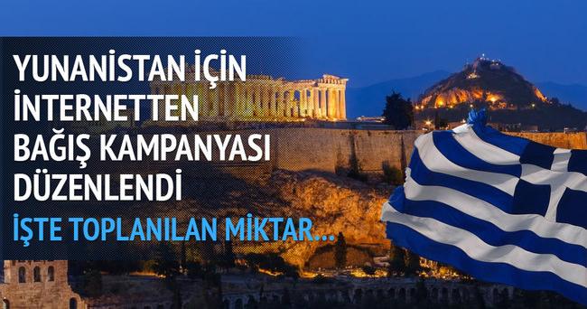 Yunanistan için internette bağış kampanyası başlatıldı