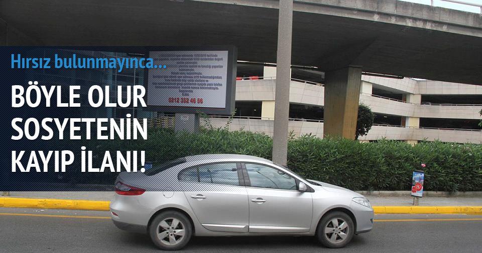 30 bin dolarlık saate billboardlı kayıp ilanı!
