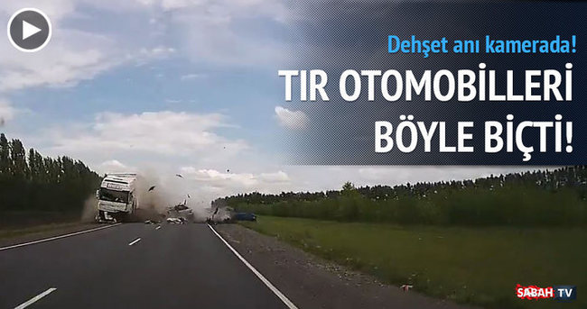 TIR otomobilleri biçti: 2 ölü !