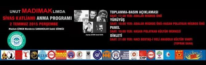 Eskişehir'de Sivas Katliamı Anma Programı