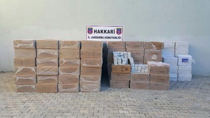 Şemdinli'de 102 Bin Paket Sigara Ele Geçirildi