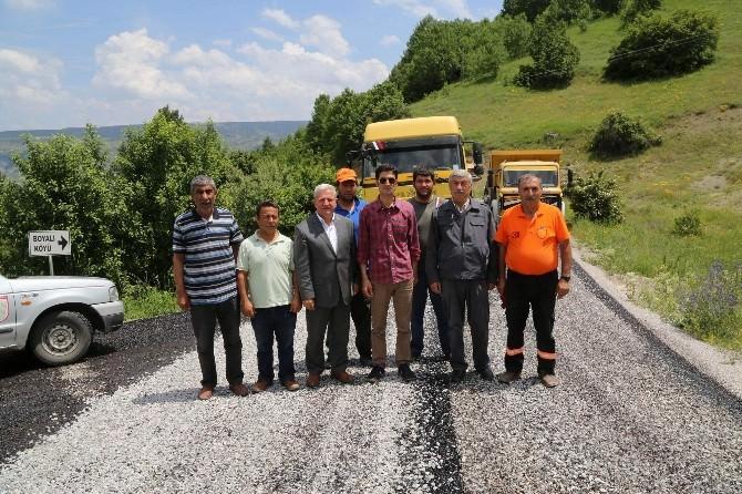 Doğanşar'da Köy Yollarının Standartları Yükseliyor