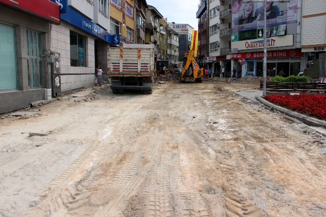 Huzur Sokak'ta Yol Çalışmasına Başlandı