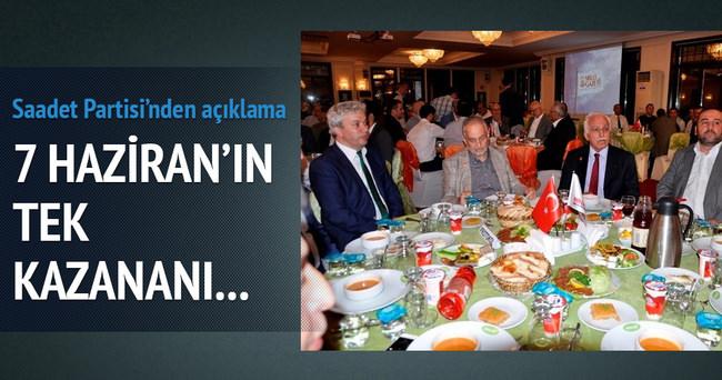 Saadet Partisi seçimin kazananını açıkladı