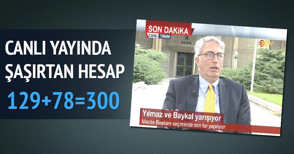 Murat Yetkin'in Meclis Başkanlığı hesabı şaşırttı