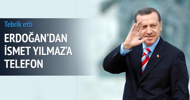 Erdoğan'dan İsmet Yılmaz'a telefon
