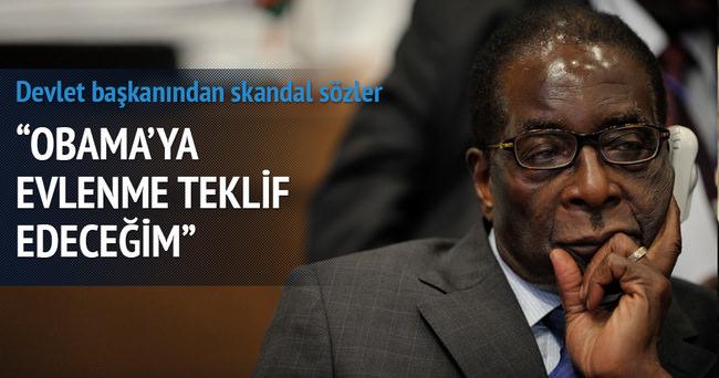 Robert Mugabe ABD Başkanı Obama'ya evlenme teklifi edecek