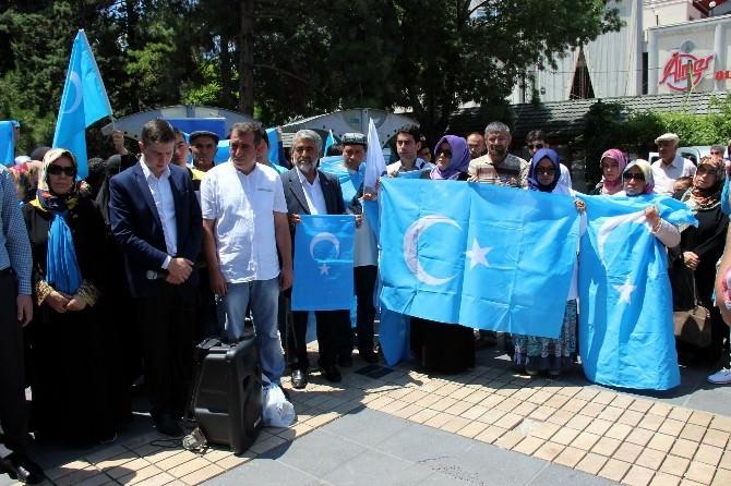 AGD Kayseri Şubesi Çin'i Protesto Ederek Doğu Türkistan İçin Dua Etti