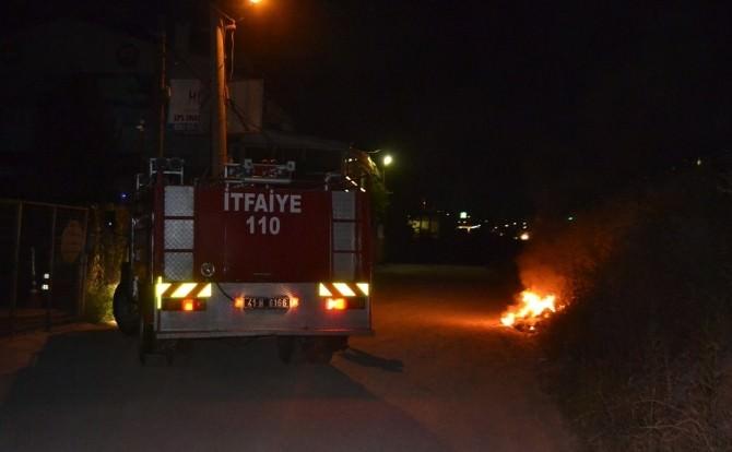 Karamürsel'de Ot Yangını