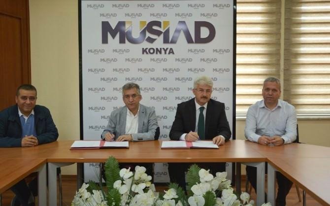 Milli Eğitim Müdürlüğü İle MÜSİAD Konya Şubesi Arasında Protokol