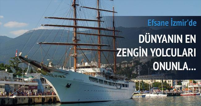 Zenginlerin efsane yelkenlisi İzmir'de