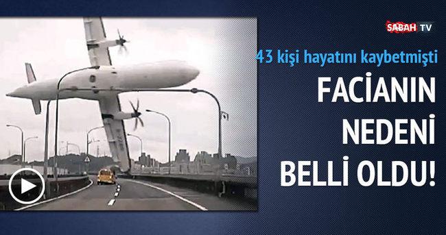 43 kişinin öldüğü uçak faciasının nedeni