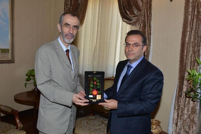 Slovenya Büyükelçisi Milan Jazbec'ten Veda Ziyareti