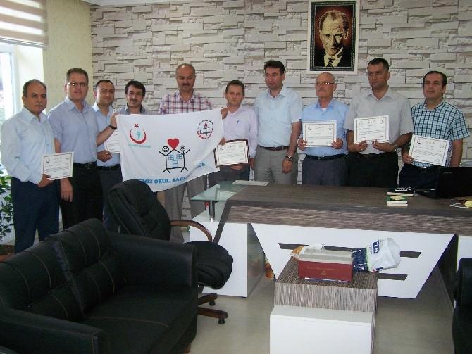 Beyşehir'de 9 Okula Beyaz Bayrak Verildi
