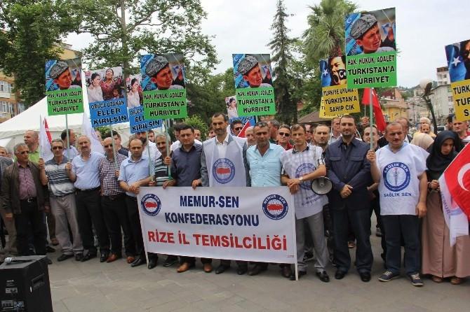 Rize'den Doğu Türkistan'a Destek