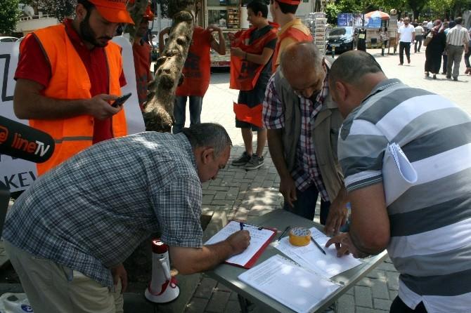 Bursa'daki Toplu Ulaşım Zammına İmzalı Protesto