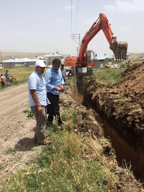 Tutak Belediyesi Alt Yapı Çalışmaları Devam Ediyor