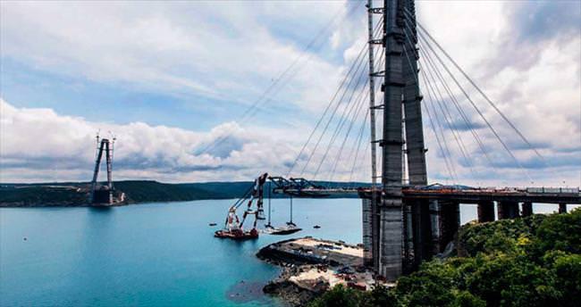 3'üncü köprü denizle buluştu