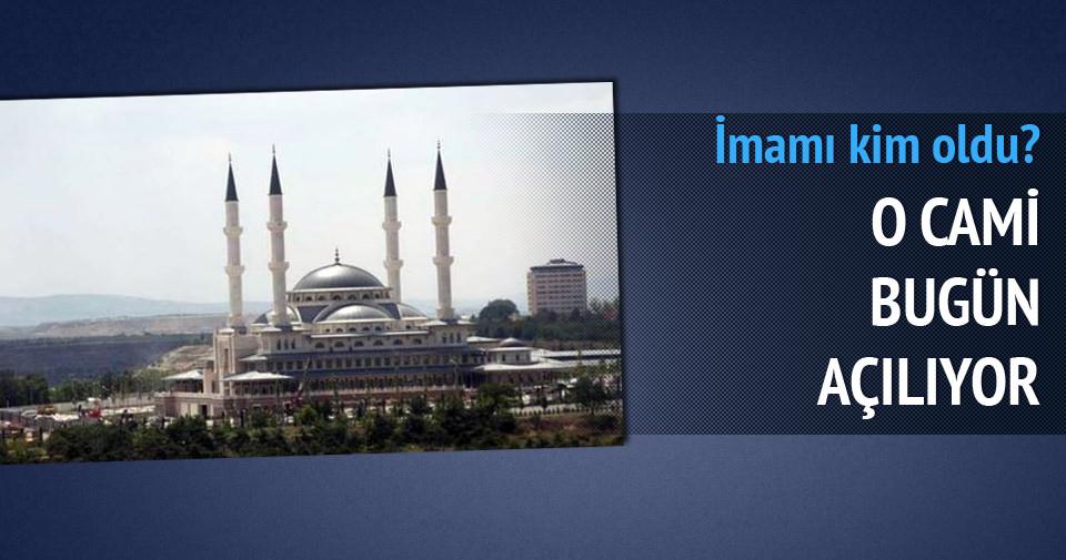 Cumhurbaşkanlığı Sarayı'nın içindeki cami bugün açılıyor